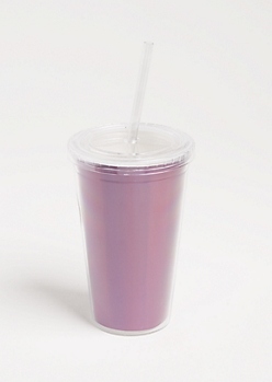Purple Holographic Tumbler
