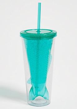 Green Glitter Mermaid Tumbler