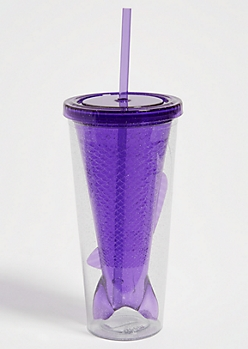 Purple Glitter Mermaid Tumbler
