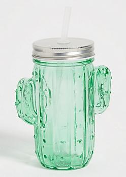 Green Cactus Jar Tumbler