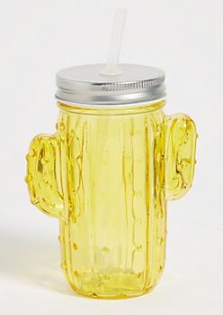 Yellow Cactus Jar Tumbler