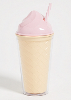 Medium Pink Ice Cream Cone Tumbler