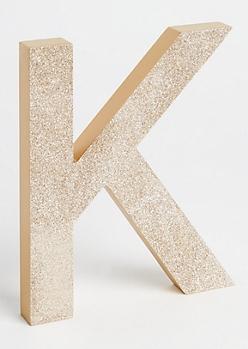 K Gold Glittering Box Sign