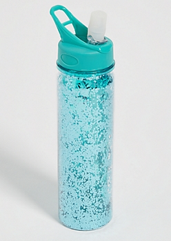 Green Glitter Sports Water Bottle
