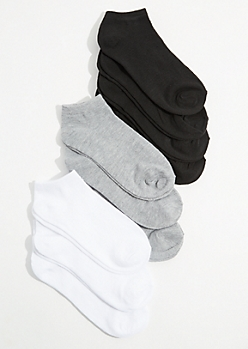10-Pack Essential Colors Ankle Sock Set