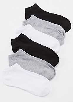6-Pack Basic Ankle Socks
