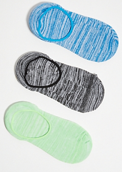 3-Pack Neon Green Space Dye Shoe Liners
