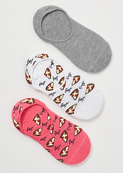 3-Pack Pink Pizza Print Shoe Liner Set