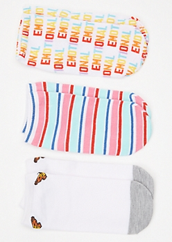 3-Pack Emotional Striped Low Cut Sock Set