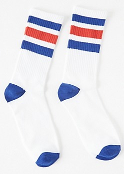 Americana Striped Crew Socks