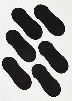 6-Pack Black Liner Sock Set