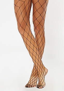 Black Fishnet Mesh Tights
