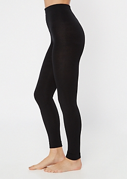 Black Fleece Footless Tights