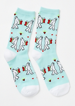 Blue Yeti Secret Present Crew Socks