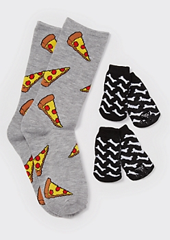 Snack Print Matching Pet Sock Set