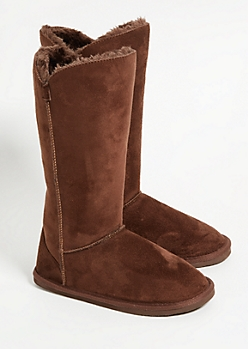 Brown Faux Fur Lined Tall Boots