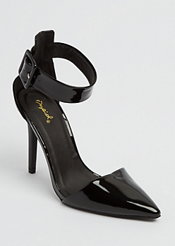 Black Patent Pointed Toe Stilettos