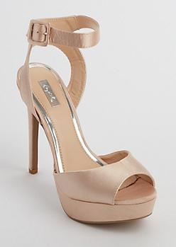 Pink Satin Stilettos
