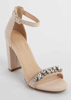 Embellished Open Toe Heels