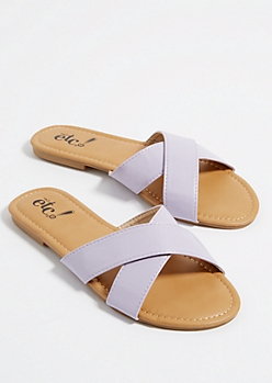 Lavender Cross Strap Sandals
