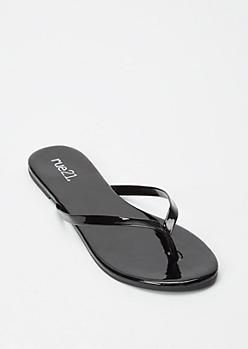 Black Single Strap Flip Flop