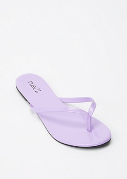 Lavender Single Strap Flip Flop