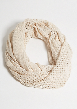 Heathered Oatmeal Infinity Scarf