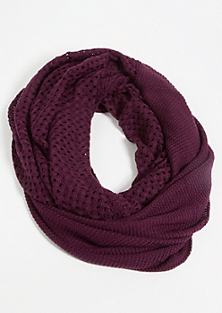 Dark Purple Infinity Scarf