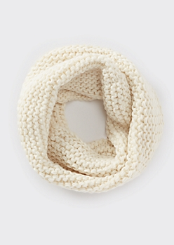 Oatmeal Heather Soft Knit Infinity Scarf