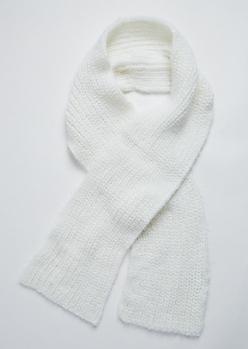 Ivory Eyelash Knit Scarf