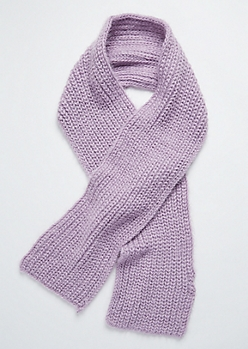 Lavender Eyelash Knit Scarf