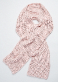 Light Pink Eyelash Knit Scarf