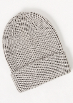 Heather Gray Knit Beanie