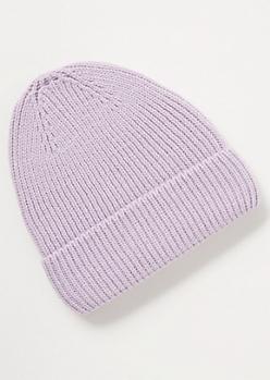 Purple Knit Beanie