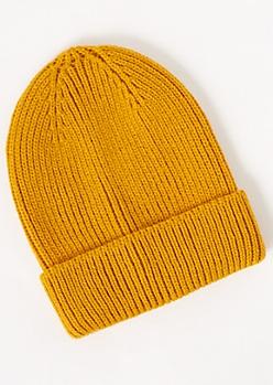 Mustard Knit Beanie