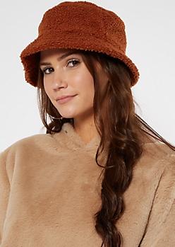Burnt Orange Sherpa Bucket Hat