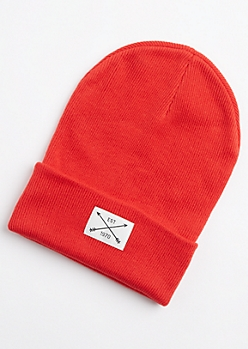 Red Est 1970 Patch Beanie