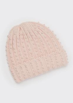 Pink Pearl Beanie