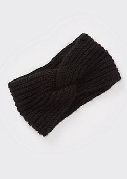Black Twist Headwrap