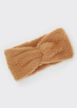 Brown Fuzzy Headwrap