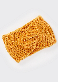 Gold Chenille Twist Headwrap