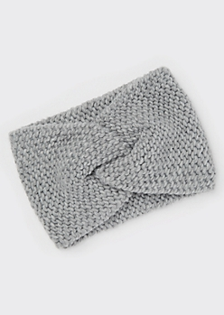 Silver Thick Knit Headwrap