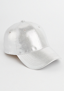 Silver Metallic Dad Hat