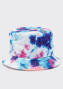 Blue Tie Dye Bucket Hat