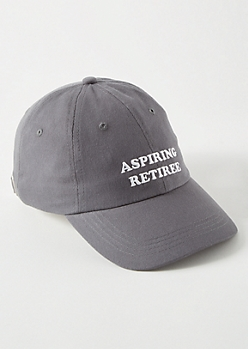 Gray Aspiring Retiree Dad Hat