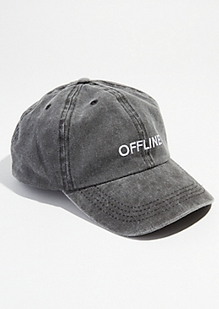 Washed Black Twill Offline Dad Hat