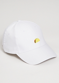 White Taco Twill Dad Hat