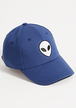 Navy Alien Patch Dad Hat
