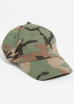 Olive Camo Print Dad Hat