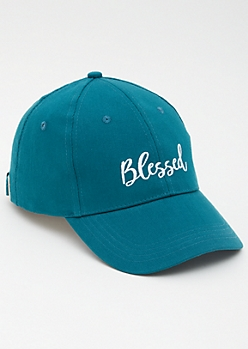 Teal Blessed Dad Hat